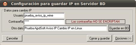 AjpdSoft Configurar AjpdSoft Aviso Cambio IP pública en GNU Linux