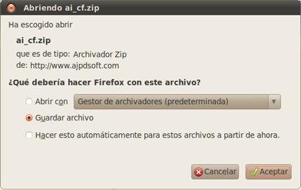 AjpdSoft Descargar y ejecutar AjpdSoft Aviso Cambio IP Pública en  GNU Linux con Wine