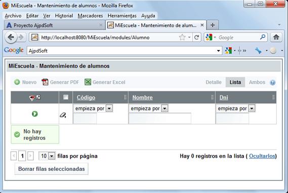 Desarrollar aplicación web profesional con OpenXava y