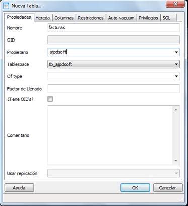 AjpdSoft Crear un esquema y una tabla de ejemplo en PostgreSQL