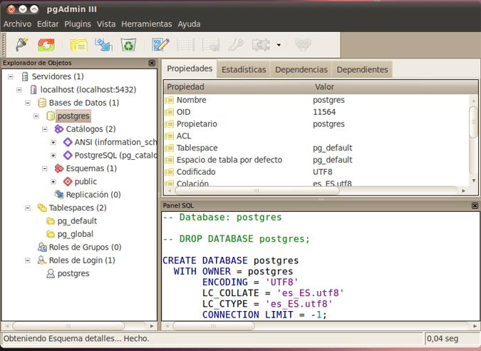 AjpdSoft Administración gráfica de PostgreSQL mediante pgAdmin III