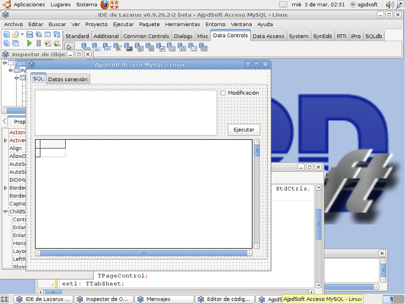 Mi primera aplicaci�n en Linux con Lazarus con acceso a MySQL ...